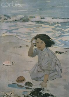 "The Senses by Jessie Wilcox Smith I have this lovely print. It was given to me by my Mom! She said "" This reminds me of you and your love of shell, the beach and water"" So special to me!"