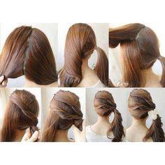 .@brushisnw   DIY Easy Ponytail Hairstyle   Webstagram - the best Instagram viewer