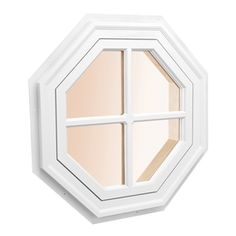 Awsco Octagon Replacement White Exterior Window (Rough Opening: X Actual: X Exterior Colors, Exterior Paint, Square Windows, Octagon Windows, Oval Windows, Brick Molding, Lowes Home Improvements, Window Design, Colorful Interiors