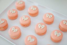 Bow macarons for the Tutus and Bows party by Life's Little Celebrations.  Photo by Nikki Fitt Photography