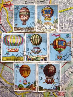 Hot air balloons and stamps. Yes!