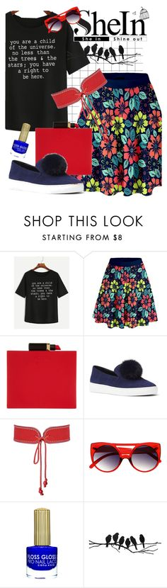"""""""Playful Sunday"""" by atie-212 ❤ liked on Polyvore featuring WithChic, Lulu Guinness, Michael Kors and Yves Saint Laurent"""