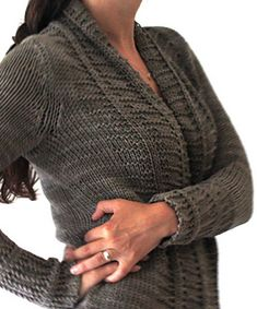 Long Sands Cardigan by Amy Christoffers - perfect for summer in cotton yarn