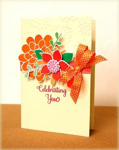 Oranges are so perfect for a summery card!