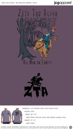 Zeta Tau Alpha BMOC Shirt | Sorority BMOC Shirt | Greek BMOC Shirt #zetataualpha #zeta #zta #BMOC #shirt #halloween #fall Custom Design Shirts, Custom Greek Apparel, Zeta Tau Alpha, Sorority Outfits, Sorority And Fraternity, Greek Clothing, Comfort Colors, Autumn Theme, Halloween Themes
