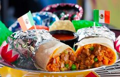 Burrito - $5.95. Just a buck more for meat!