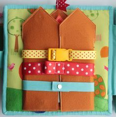 snaps and buckles quiet book page