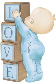 Substitute love for the baby's name. make extra blocks. Clipart Baby, Baby Shower Clipart, Baby Painting, Fabric Painting, Storch Baby, Album Baby, Scrapbooking Image, Dibujos Baby Shower, Scrapbook Bebe