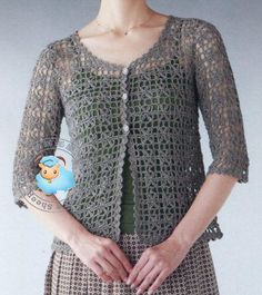 Fabulous Crochet a Little Black Crochet Dress Ideas. Georgeous Crochet a Little Black Crochet Dress Ideas. Top Tejidos A Crochet, Gilet Crochet, Crochet Cardigan Pattern, Crochet Tunic, Crochet Jacket, Knit Or Crochet, Crochet Clothes, Crochet Sweaters, Sweater Patterns