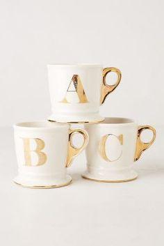 Gold Monogram Mug #AnthroFave
