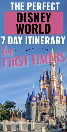 Ideal Disney World 7 Day Itinerary