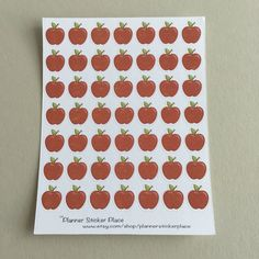 Teacher Planner Stickers  Apple Planner by PlannerStickerPlace  Great for Teachers, Mom's, Autumn Theme, or if you just love Apples!   Wont these look great in your planner?