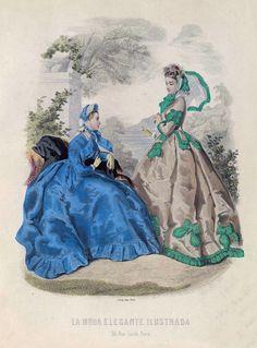 1864. La moda elegante ilustrada.