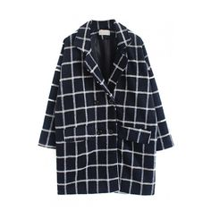 Notched Lapel Double Breasted Plaid Coat (170 BRL) ❤ liked on Polyvore featuring outerwear, coats, jackets, beautifulhalo, plaid wool coat, double-breasted coat, wool coat, double breasted wool coat and double breasted woolen coat