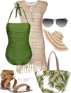 """swim wear"" by mshyde77 on Polyvore.... Ready for summer..reminds me of a swim suit I use to have..."