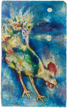 (Belarus) by Marc Chagall (1887- 1985). Belarusian later French. between Surrealism & NeoPrimivism.