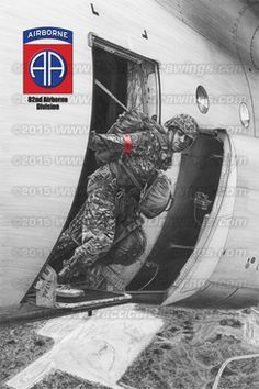 "Military drawing ""82nd Airborne Division Jumpmaster "" by renowned artist JK Kim of Tactical Drawings"