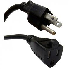 ACL 25 Feet Right Angle Power Cord 15 Amp for Computer /& Monitor Black 14 AWG 4 Pack