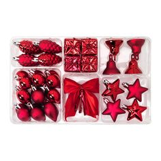 IKEA - VINTER 2015, 29-piece hanging ornament set, Strings and hooks for hanging are included, no need to buy extra.Made of a durable material which does not break if they are dropped.