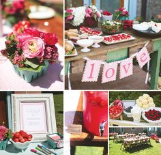 Sweet & Summery Berry Themed Bridal Shower http://hwtm.me/12PDh9o