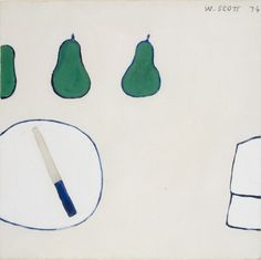 William Scott, Untitled, 1974, Gouache on card, Private collection