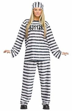 36a1a9efd2a4 Adult Prisoner Costume Package Includes  Top