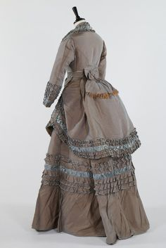"""gailcarriger: fripperiesandfobs: """"Day dress ca. 1870 From Kerry Taylor Auctions"""" """"For Alexia."""""""