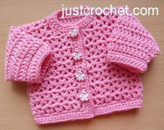 Free baby crochet pattern preemie cardigan usa