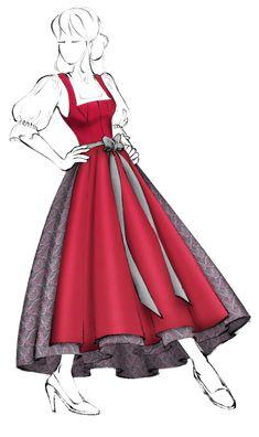 Kardashian, Dirndl Dress, Vogue, Vintage Crochet, Fashion Sketches, Cinderella, Aurora Sleeping Beauty, Gowns, Costumes