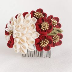 Kanzashi Flowers, Diy Hair Accessories, Hair Piece, Fabric Flowers, Artwork, Handmade, Design, Kimono, Tela
