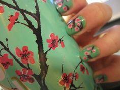 Green Tea Nails by gina
