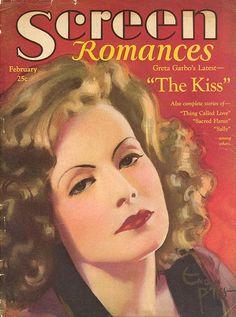"Greta Garbo ~ ""Screen Romances"" magazine"