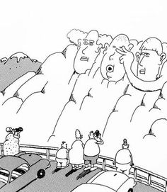 """The Far Side"" by Gary Larson. Far Side Cartoons, Far Side Comics, Cartoon Jokes, Funny Cartoons, Gary Larson Far Side, Gary Larson Cartoons, Wtf Funny, Funny Shit, Funny Stuff"