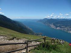 View of lake Garda from Monte Baldo Lake Garda, Places Ive Been, Beautiful Places, Camping, Mountains, Bella, Bullet Journal, Holidays, Trekking