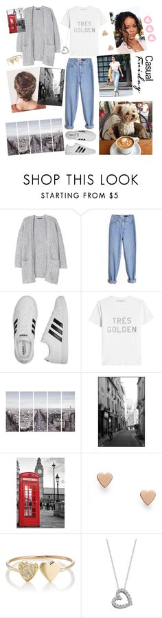 """""""""""Everyday Wearing"""" contest, read D! """" by eliskiku ❤ liked on Polyvore featuring MANGO, adidas, Golden Goose, Art Addiction, FOSSIL, Jennifer Meyer Jewelry and Effy Jewelry"""