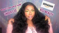 HIT OR MISS? | AISI BEAUTY AMAZON WIG | Brazilian hair dupe for less tha... Black Curly Wig, Curly Wigs, For Less, Brazilian Hair, Dupes, Amazon, Beauty, Riding Habit, Beauty Tips