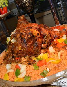 Arabic-style whole roasted lamb with bukhari rice! Yummy!!
