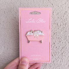 Tubby Cat Hard Enamel Lapel Pin by Lulu Bloo!