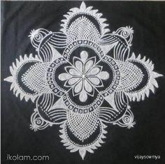 Rangoli Freehand rangoli In Black and White blackboard kolams   m.iKolam.com