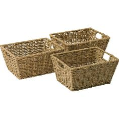 Buy HOME Set of 3 Seagrass Storage Baskets - Natural at Argos.co.uk - Your Online Shop for Storage baskets and boxes, Storage, Home and garden.