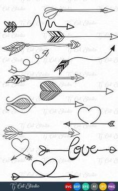 Arrow vector Circles arrow svg Arrow Monogram svg Arrow frames svg Arrow monogram frames Svg Files for Silhouette Cameo or Cricut Doodle Drawings, Easy Drawings, Doodle Art, Tattoo Drawings, Arrow Doodle, Doodle Frames, Bullet Journal Ideas Pages, Bullet Journal Inspiration, Bullet Journal Frames