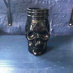 Black skull.... Bright Colors, Colours, Black Skulls, Mason Jars, Mexican, Bright Colours, Vivid Colors, Mason Jar, Mexicans