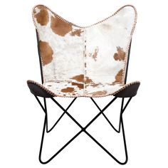 KARE Cowhide Butterfly Armchair | ACHICA