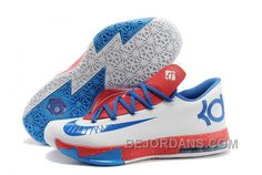 """http://www.bejordans.com/free-shipping-6070-off-nike-kevin-durant-kd-6-vi-paris-white-blue-red-for-sale-js7kd.html FREE SHIPPING! 60%-70% OFF! NIKE KEVIN DURANT KD 6 VI """"PARIS"""" WHITE BLUE RED FOR SALE PMHTG Only $96.00 , Free Shipping!"""