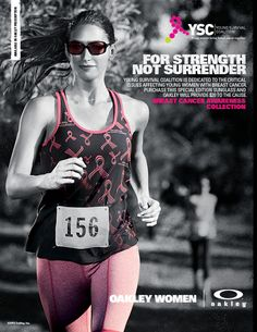 Oakley supports the Young Survivor Coalition. YSC is dedicated to the critical issues affecting young womenwith breast cancer.