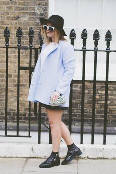 Lily Melrose - The Baby Blue Coat - Read More: http://www.llymlrs.com/2014/05/the-weekend-baby-blue-coat.html
