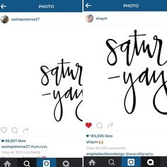 When @sashapieterse27 and @shaym repost your work  As exciting as it is I will be honest that it is kind of a bummer to not get credit for your work. Fellow #calligraphers/artists/designers what are your thoughts on watermarking? P.S. Shoutout to @angeladavidsondesign for looking out! I seriously love the #communityovercompetition attitude on Instagram!