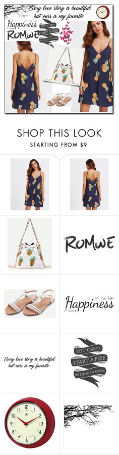 """""""Romwe 55"""" by dilruha ❤ liked on Polyvore featuring WithChic, York Wallcoverings, Native State and Improvements"""