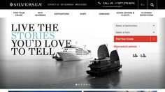 New Silversea Cruises Website Home Page ~ Silversea Cruises Unveils New Identity Design and Website   Popular Cruising (Image Copyright © Silversea Cruises)