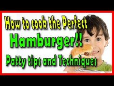 Take a look at my video, folks👇 Homemade Burger Recipe - The perfect Hamburger Patty Tips and Techniques! https://youtube.com/watch?v=wsmE5o1WUaI